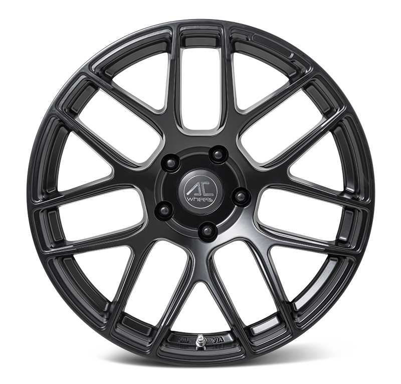 "NEW 19"" AC FF046 FLOW FORMED ALLOY WHEELS IN MATT BLACK WITH WIDER 10"" REARS"